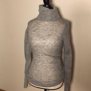 H&M grey wool turtleneck sweater